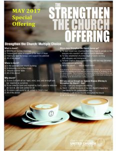 May Special Offering: Strengthen The Church